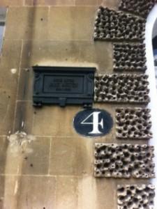 Jane Austen'ın yaşadığı evlerden birinin kapısı